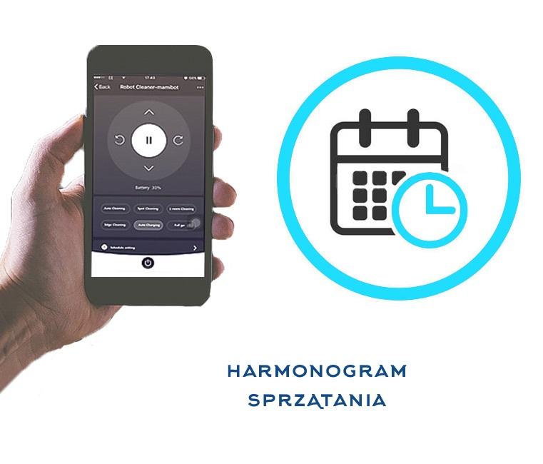 ekran telefonu z aplikacją harmnogram sprzątania